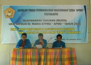 "MUSTA UKM Khatolik STPMD""APMD"" Yogyakarta"